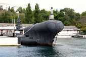 picture of sevastopol  - Submarine in the southern bay of Sevastopol Crimea Russia - JPG