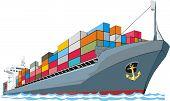 Постер, плакат: Cargo ship