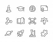foto of conic  - Simple set of Science related vector icons for your design - JPG