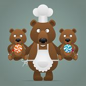 picture of bear cub  - Illustration - JPG