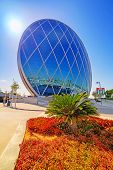 ABU DHABI, UAE - MARCH 27: Aldar headquarters building on March 27, 2014, UAE. Aldar headquarters is