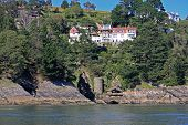 pic of dartmouth  - castle ruins at Kingswear on the River Dart - JPG