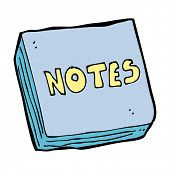 cartoon notes pad