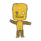 cartoon funny gold robot