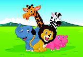 pic of tusks  - Vector illustration of Happy cartoon safari animal - JPG