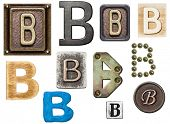 picture of letter b  - Alphabet made of wood - JPG