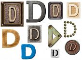 stock photo of letter d  - Alphabet made of wood - JPG