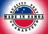 picture of samoa  - Quality test guaranteed stamp with a national flag inside Samoa - JPG
