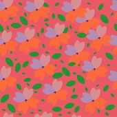 Seamless floral background (vector illustration for design series)