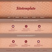 Website Template with Abstract Header Design - Circles, Rings