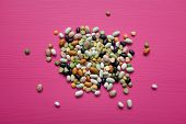 picture of pinto bean  - Mixed dried beans  - JPG