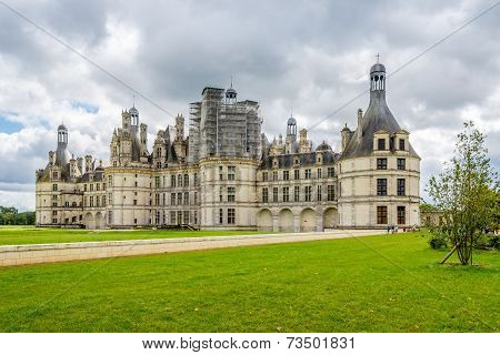 Northwest Fascade Of The Chateau De Chambord