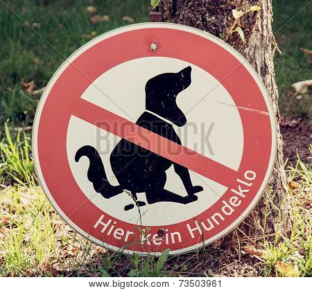Dog Excrement To Ban