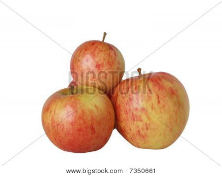 Some the big ripe apples