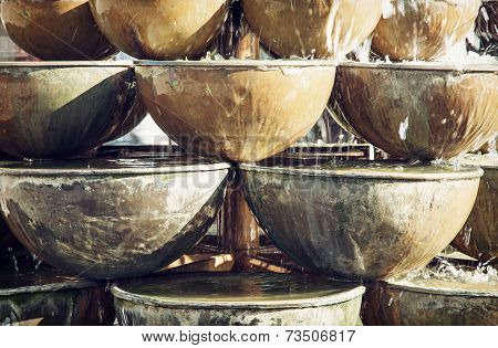 Fountain Of Round Containers