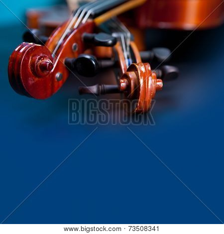 Classic music violin vintage close up