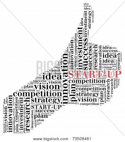 Word cloud illustration related to business start-up