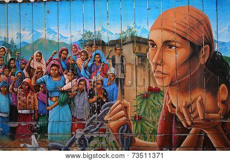 Murals of Balmy Alley, San Francisco, California, USA