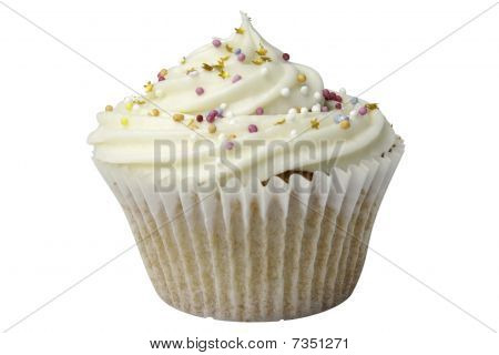 Cupcake With Sprinkles And Clipping Path