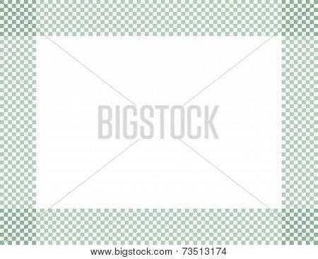 Light Green And White Checkered Frame