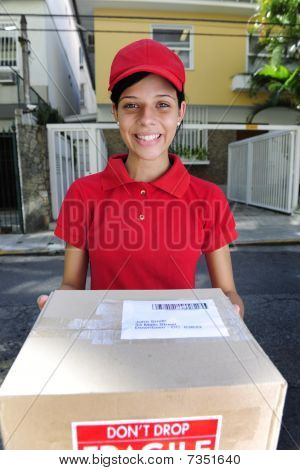Delivery Courier Delivering Package