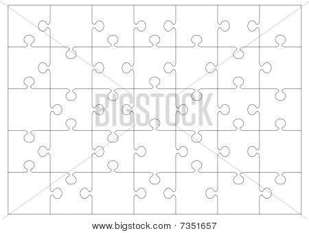 Jigsaw Outline Background