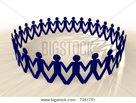Paper Chain Men Blue
