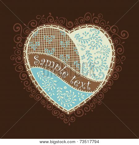 Vector heart for Valentine's Day design.