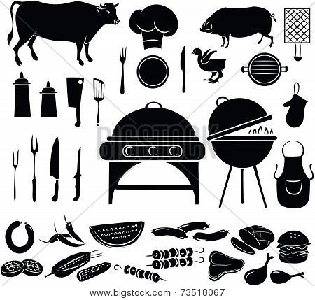 Barbeque Icon Set