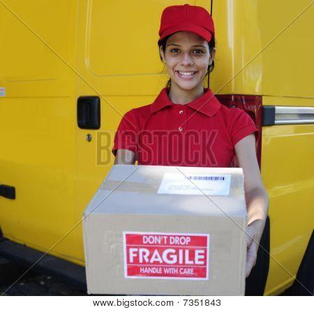 Lieferung Courier oder Bereitstellung Postpakete mailman