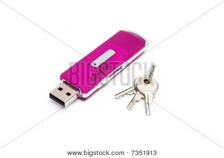 Usb Flash Drive With A Keys