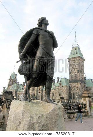 Ottawa Parliament Joan Of Arc Statue 2008