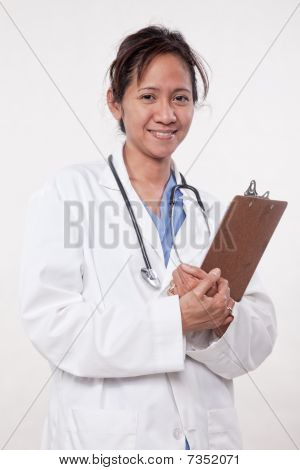 Asian Woman Doctor Physician