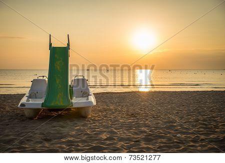 Rimini Beach At Sunrise