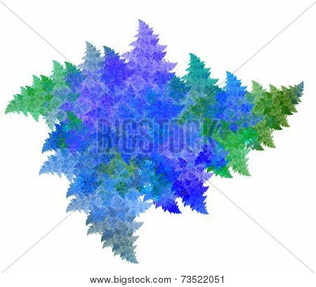 Frosty pattern fractal dynamic asymmetric