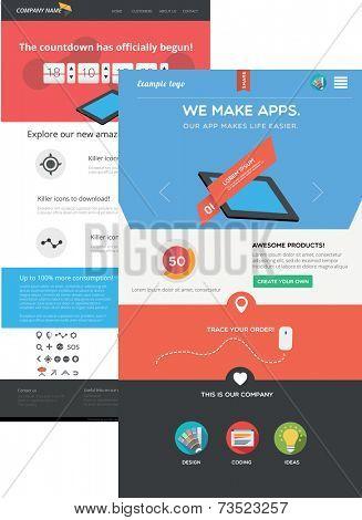 Flat designed web templates