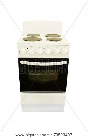 electric stove under the white background