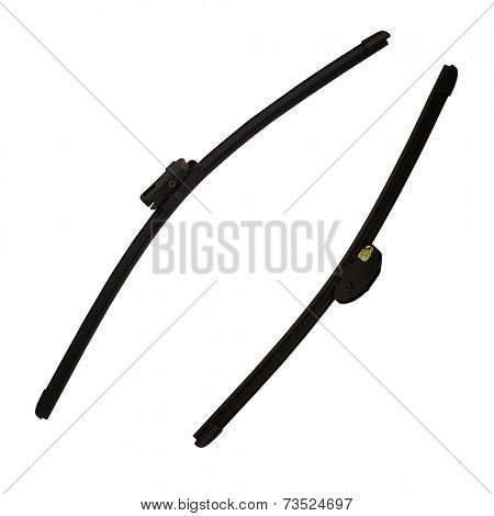 Car windscreen wiper under the white background