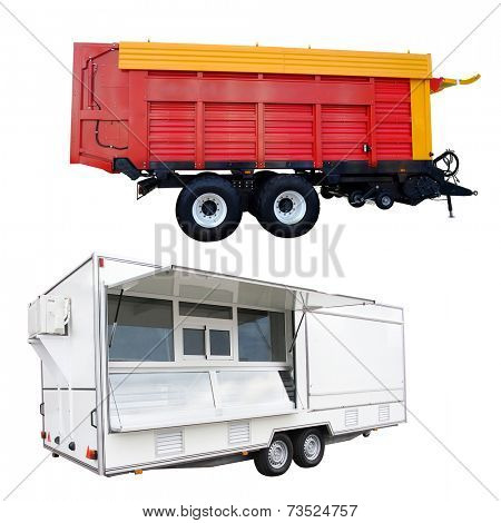 The image of trailers