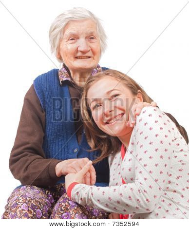 The Sweet Young Girl And The Old Woman