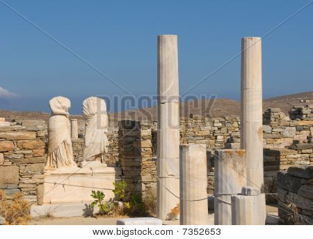 Ruins Of Cleopatra House, Delos, Greece