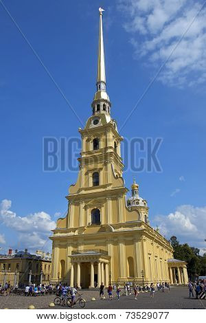 Peter And Paul Cathedral In Saint Petersburg, Russia