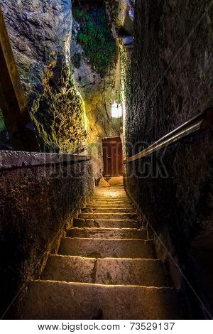 Staircase In An Ancient Castle
