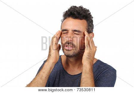 men suffer from severe headache