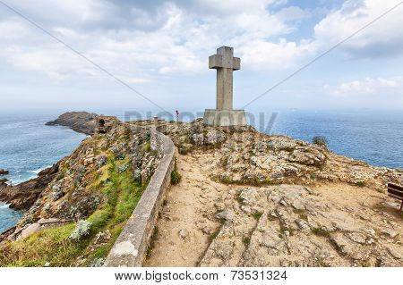 Cross On The Cape Pointe Du Decolle, France