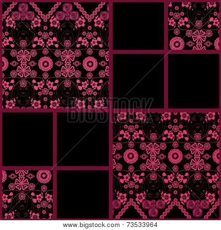 Abstract Seamless Lace Floral Pattern Texture Background