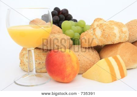 Wholesome healthy continental breakfast food