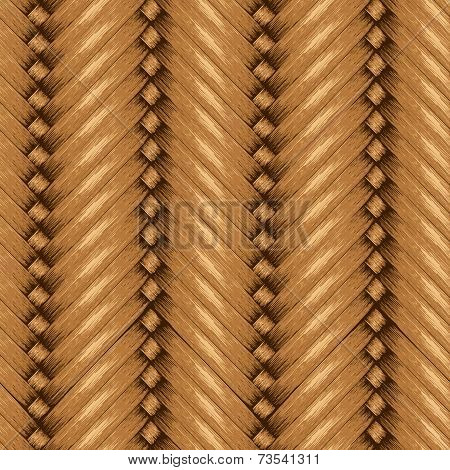Wicker Seamless Background, Wooden Basket Textured