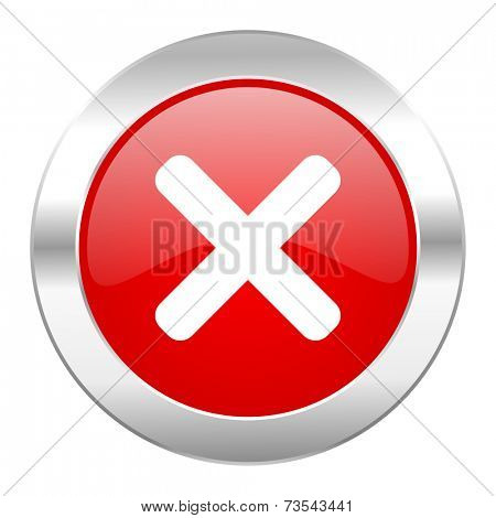 cancel red circle chrome web icon isolated