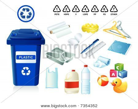 Plastic waste and garbage